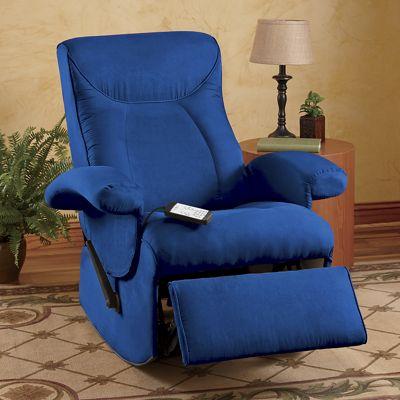 Blue Rocking Massage Chair