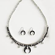 Bead/Horn Necklace/Earring Set