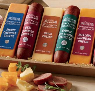 Shop Assortments, featuring Heartland Nine Cheese & Sausage Gift Assortment